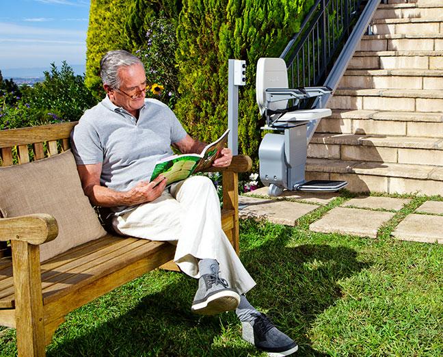 silla salvaescaleras para exteriores mayores